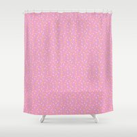 sprinkles Shower Curtains featuring Sprinkles by Diana Willett