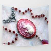 agate Wall Tapestries featuring agate,agate cameo,gemstone by ira gora