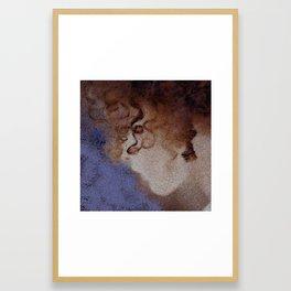 GIRL CURLS Framed Art Print