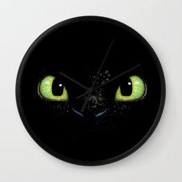 HTTYD Toothless Fiery Eyes Wall Clock