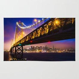 Bay Bridge at Sunset Rug