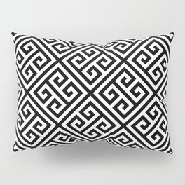 black and white pattern , Greek Key pattern -  Greek fret design Pillow Sham