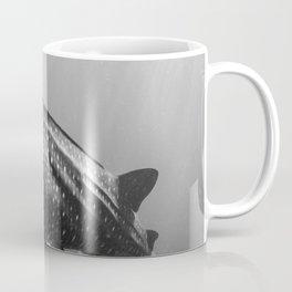 Whale shark black white Coffee Mug
