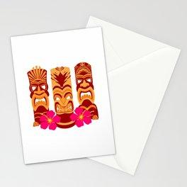Tiki Statues Set Stationery Cards