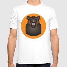 Bear Mens Fitted Tee MEDIUM White
