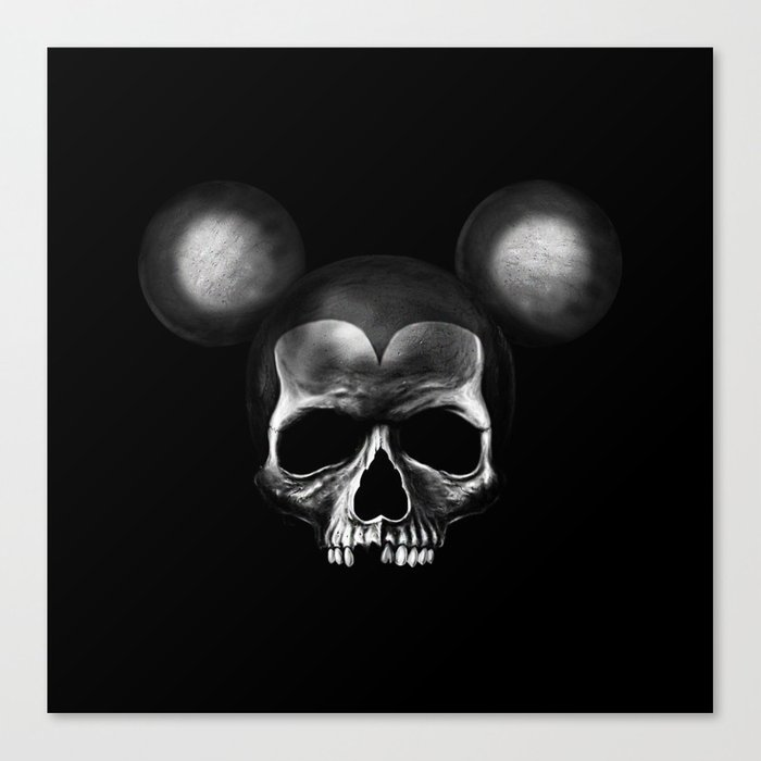 Mickey Mouse skull Canvas Print