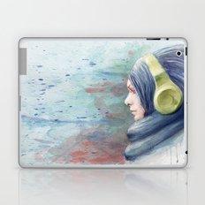girl watercolor Laptop & iPad Skin