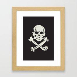 Jolly Roger pirate flag Framed Art Print