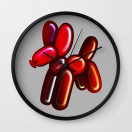 Balloon Animal - Dog (red) Wall Clock