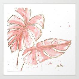 Tropical Twist Art Print