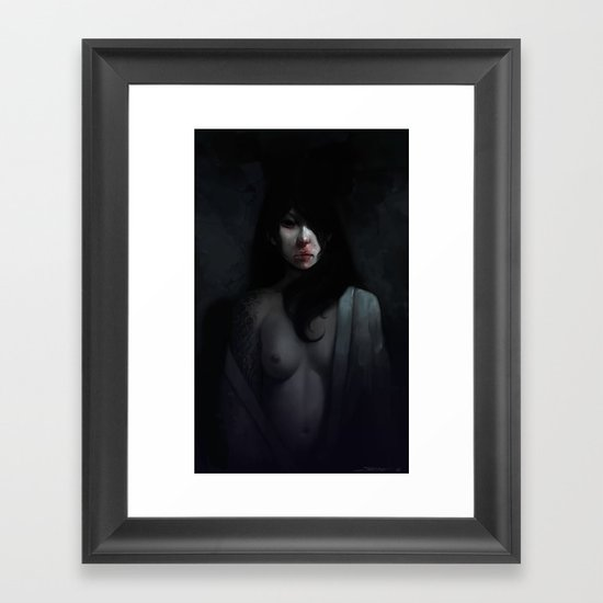 Portrait of Ikuko's Ghost Framed Art Print