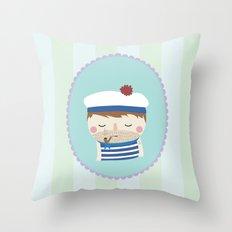 ship's boy Throw Pillow