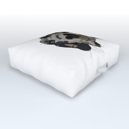 Great Dane dog in your face Outdoor Floor Cushion