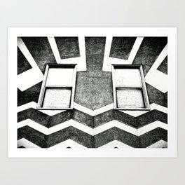 HAPPY HOUSE / B&W Art Print