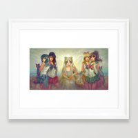 sailor moon Framed Art Prints featuring Sailor Moon by KATIE PAYNE