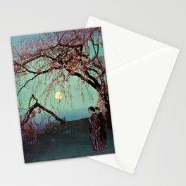 Hiroshi Yoshida - Kumoi Cherry Trees - Japanese Vintage Ukiyo-e Woodblock Painting Stationery Cards