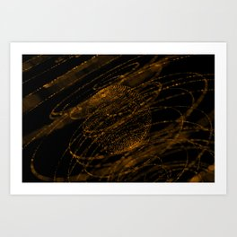 Sphere of particles Art Print