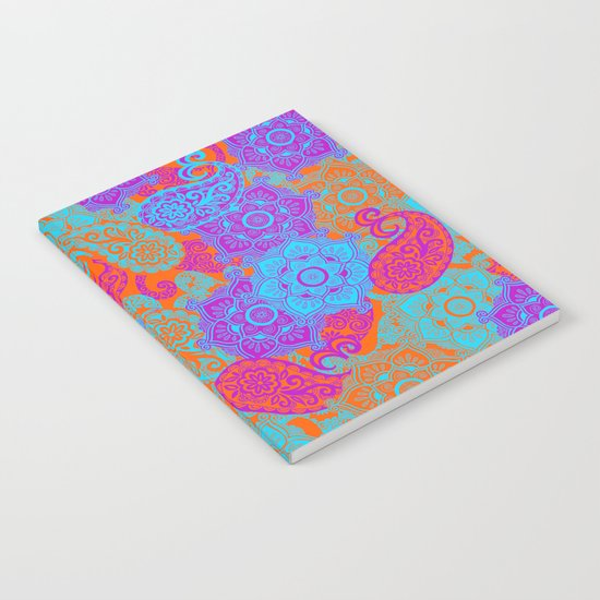 vibrant paisley Notebook