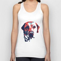 patriotic Tank Tops featuring Patriotic Labrador  by Rachel Barrett