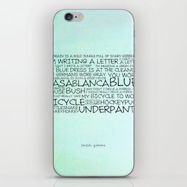 My brain is a wild jungle full of scary gibberish iPhone Skin