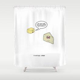 Immature Cheese Shower Curtain