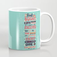 risa rodil Mugs featuring Read Books by Risa Rodil
