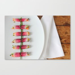 Raddish Wrap Kitchen Art Canvas Print