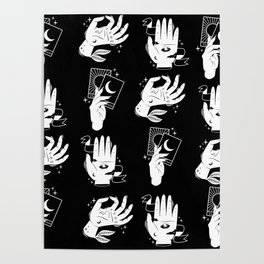 witch hands pattern Poster