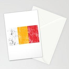 Patriotic Flag Belgian Patriotism Nationalism Gift Distressed Belgium Stationery Cards
