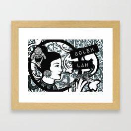 Boleh Lah Framed Art Print