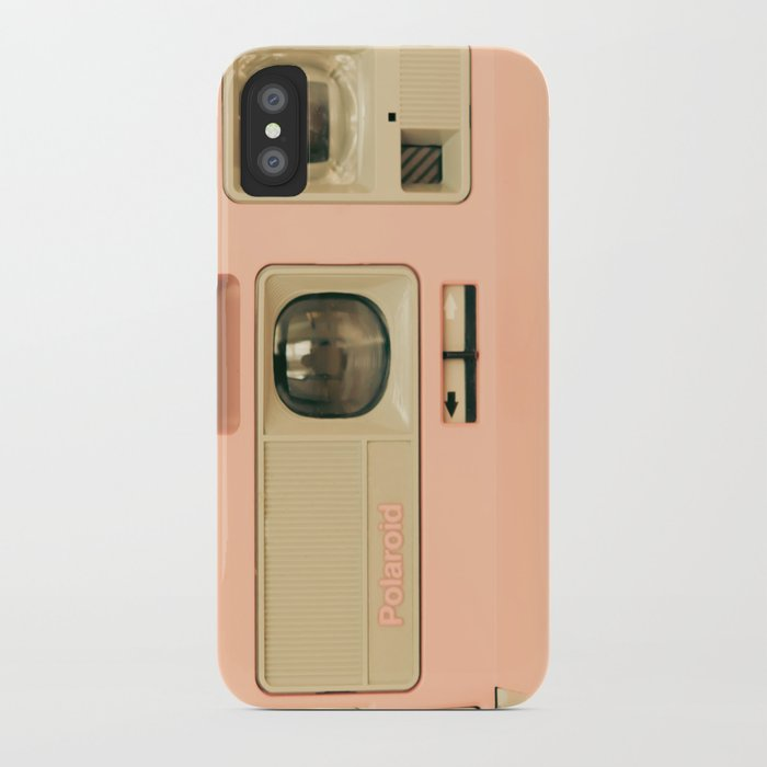 Pink Pola Love vintage camera iPhone Case