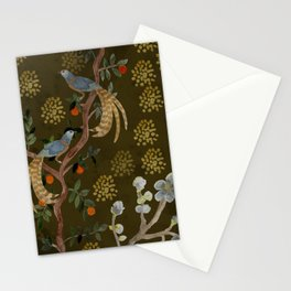Golden Chinese Forest - Chinese Art Stationery Cards