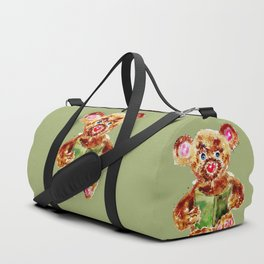 Painted Teddy Bear Duffle Bag