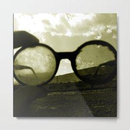 Glasses on the Horizon Metal Print