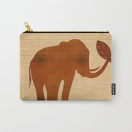 Elephant Tribal Art Design Carry-All Pouch