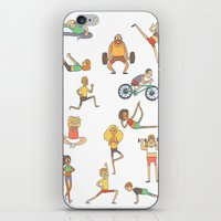 gym iPhone & iPod Skins featuring Gym Buddies by Sid's Shop
