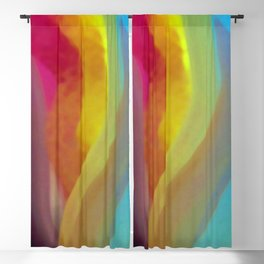 Bright Tulip Abstract Blackout Curtain
