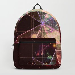Galaxy Sacred Geometry : Stellated Icoshadron Warmth Backpack