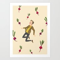 dwight schrute Art Prints featuring Dwight Schrute by NuroNuro
