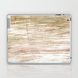 Light taupe abstract watercolor Laptop & iPad Skin