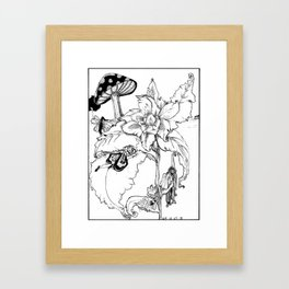 Afternoon Nap on the Sleeping Blossom Framed Art Print