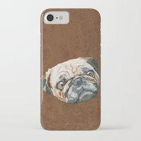 pug iPhone & iPod Cases featuring pug by Ancello