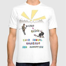 Disco & Reid's 2012 Annual CO ski adventure Mens Fitted Tee White SMALL