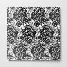 Lace in black Metal Print