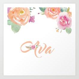 Ava Florals Art Print