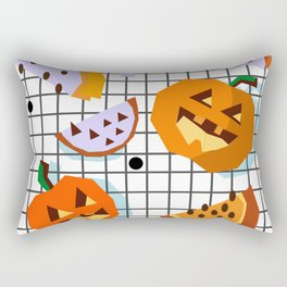 Happy Halloween Pumpkins Rectangular Pillow