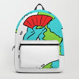 Earth Global Warming Drawing Color Backpack