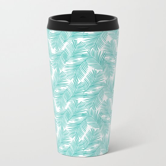 Palm tropical indoor house plants nature botanical vacation island summer surfing beach hipster Metal Travel Mug