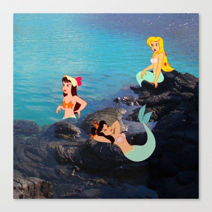 Peter Pan's Mermaid Lagoon Canvas Print
