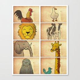 Animal World Canvas Print